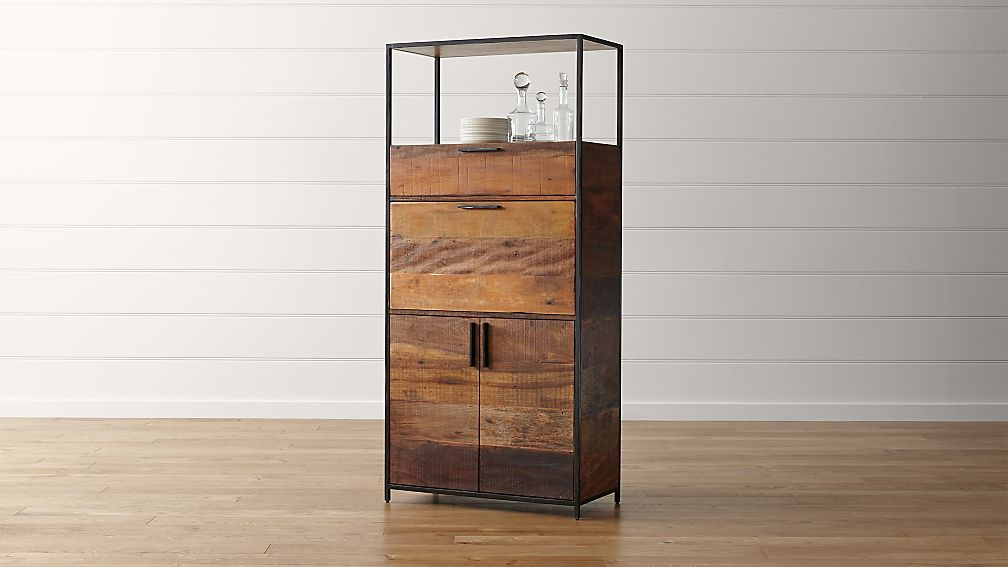 clive bar cabinet + reviews | crate and barrel