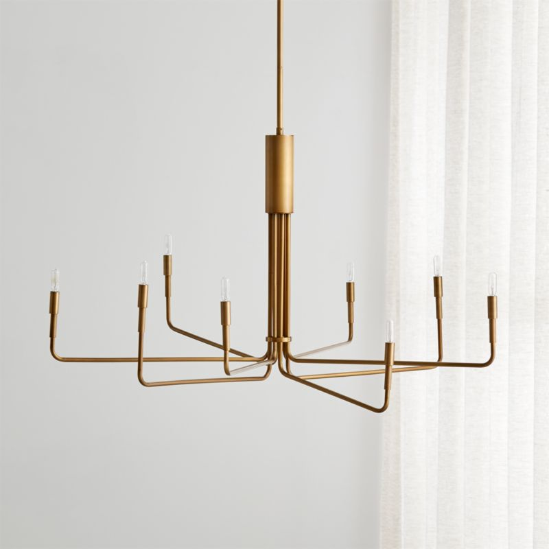 Clive 8 Arm Brass Chandelier