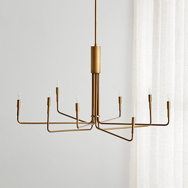 Clive large brass chandelier reviews crate and barrel aloadofball