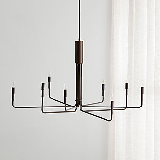 Clive 8-Arm Bronze Chandelier