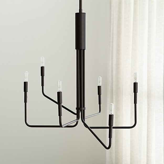 Clive 6-Arm Bronze Chandelier