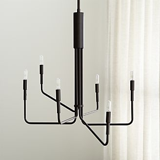 Clive 6 Arm Bronze Chandelier