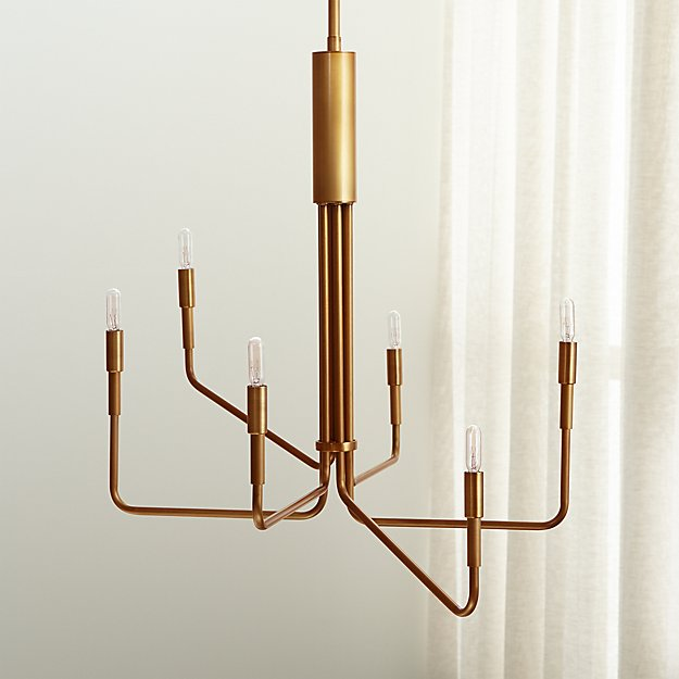 Clive brass 6 arm chandelier reviews crate and barrel aloadofball Images