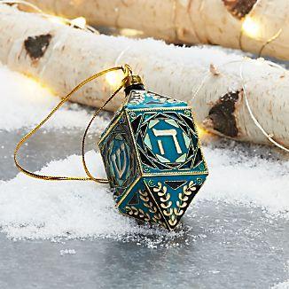 Cloisonné Dreidel Ornament