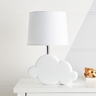 Kids table bedside lamps crate and barrel cloud table lamp mozeypictures Image collections