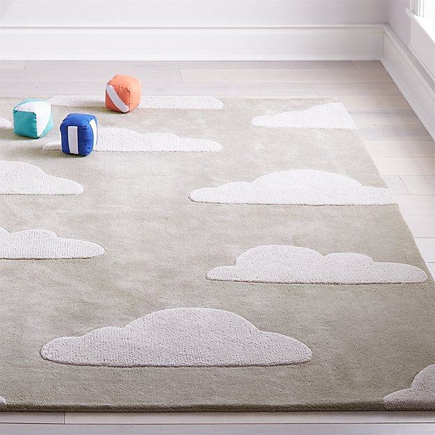 4x6 Grey Cloud Rug Reviews Crate And Barrel