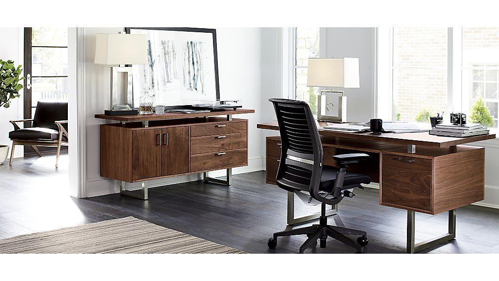 Clybourn Walnut Executive Desk