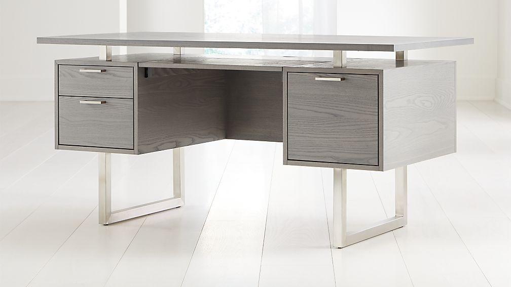 Clybourn Dove Executive Desk - Image 1 of 8