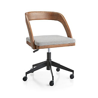 Clyne Wooden Office Chair