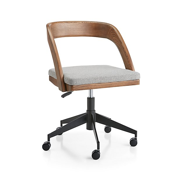 Clyne Wooden Office Chair - Image 1 of 7