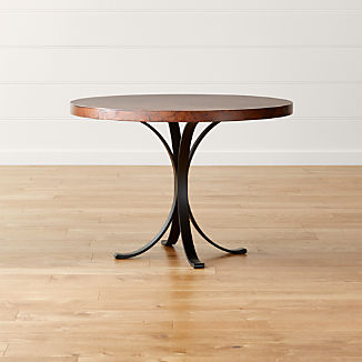 """Cobre 42"""" Round Iron Bistro Table with Copper Top"""
