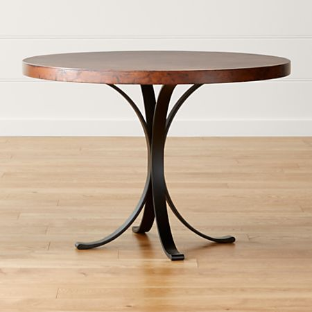 Cobre 42 Round Iron Bistro Table With Copper Top