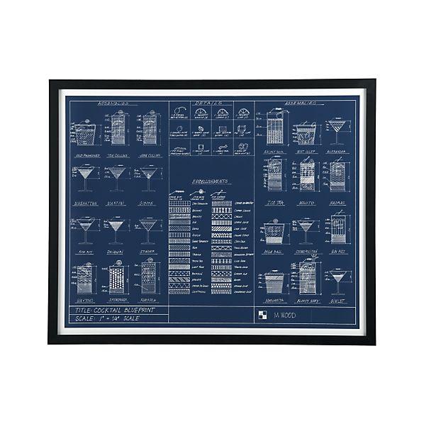 Cocktail Blueprint Print