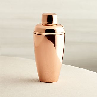 Stainless Steel Cocktail Shaker with Copper Finish