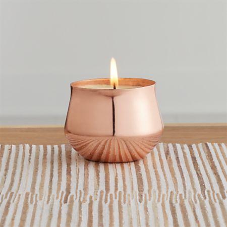 Coconut Mango Copper Demi Candle + Reviews | Crate and Barrel Canada