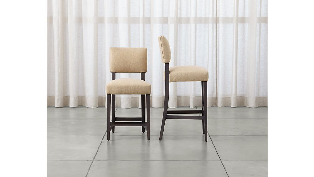 cody upholstered bar stool reviews crate and barrel