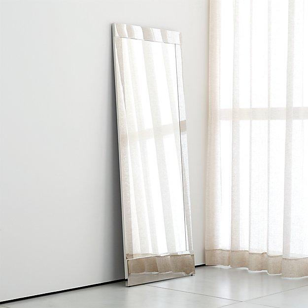 Colby Chrome Metal Framed Floor Mirror - Image 1 of 3