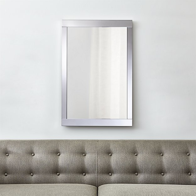Colby Chrome Metal Framed Wall Mirror + Reviews | Crate and Barrel