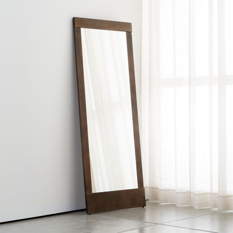 Colby Bronze Floor Mirror + Reviews | Crate and Barrel