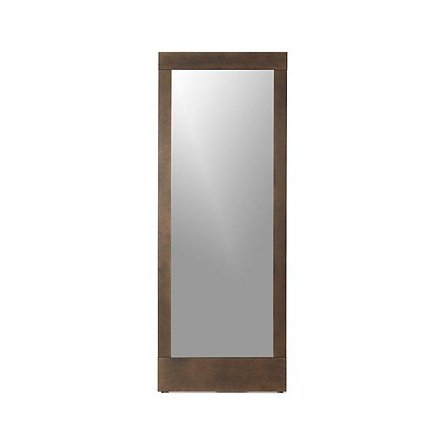 Bronze floor mirror