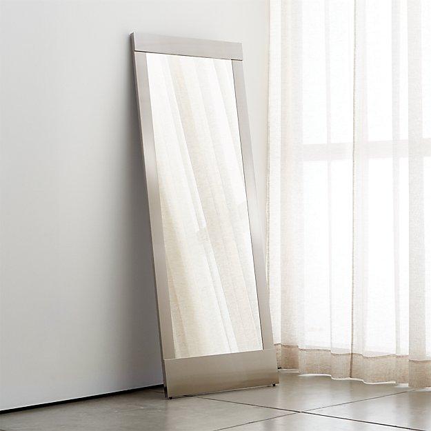 Colby Nickel Floor Mirror - Image 1 of 5