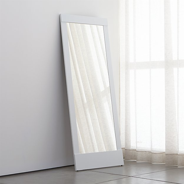 Colby White Floor Mirror