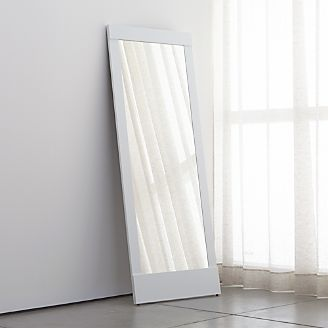 colby white floor mirror
