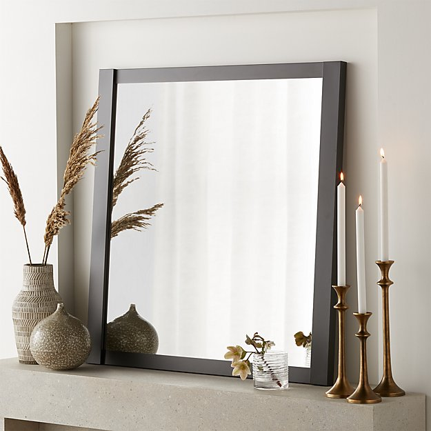 "Colby Gunmetal Square 36"" Metal Mirror - Image 1 of 4"