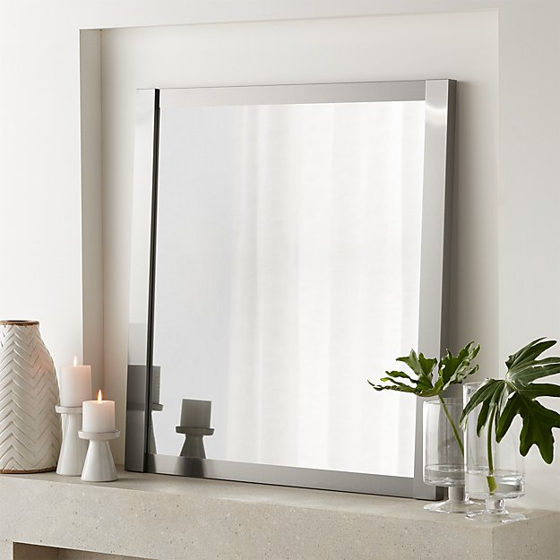 """Colby Nickel Square 36"""" Metal Mirror - Image 1 of 6"""