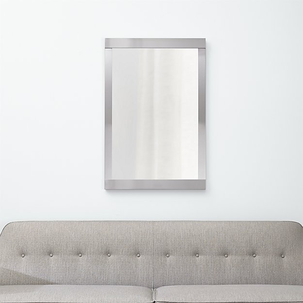 Colby nickel wall mirror reviews crate and barrel