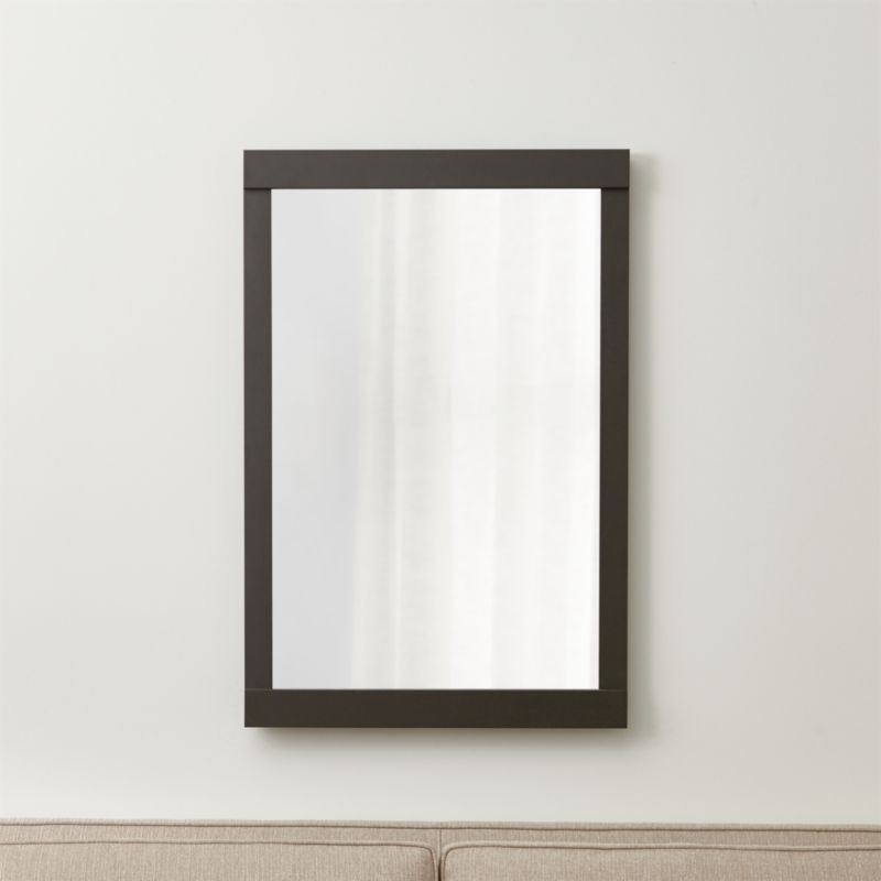 Colby Gunmetal Mirror Reviews Crate And Barrel