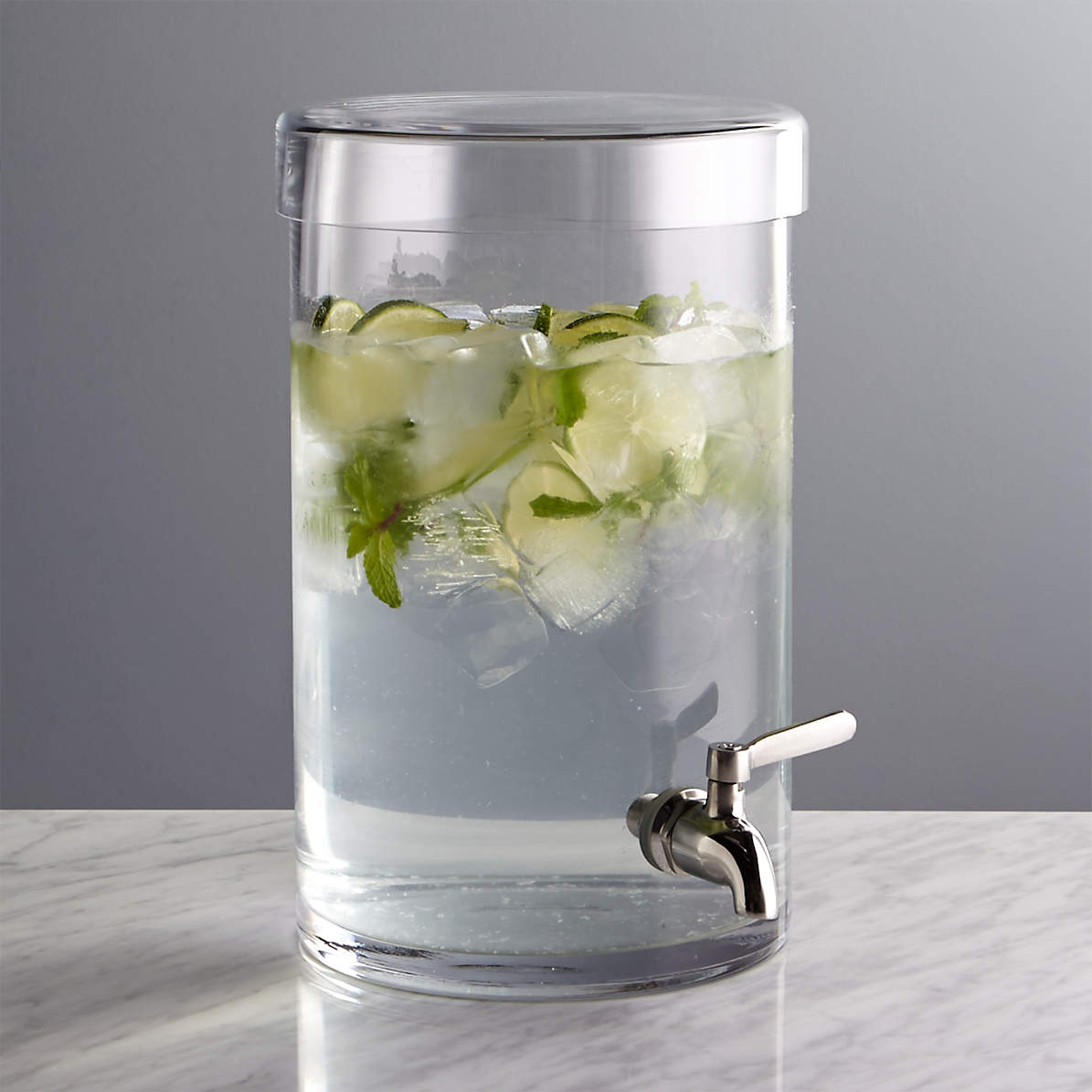 Glass Drink Dispenser Reviews Crate And Barrel