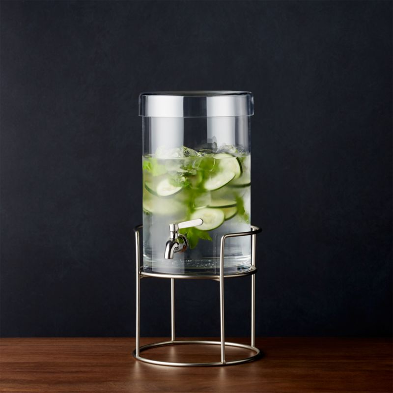 Cold Drink Dispenser With Silver Stand Reviews Crate