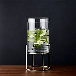 Cold Drink Dispenser with Silver Stand
