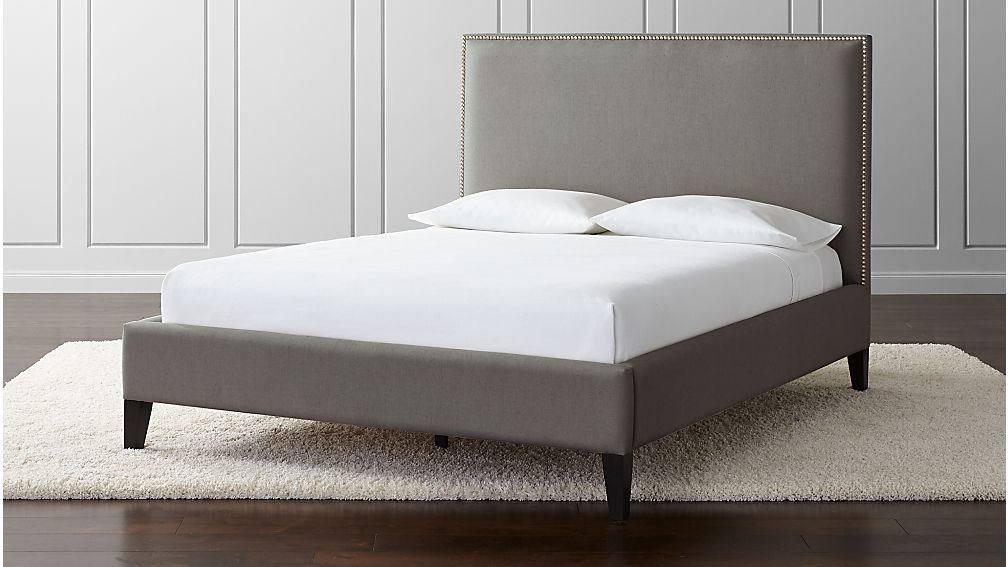 Cole Queen Upholstered Bed + Reviews | Crate and Barrel