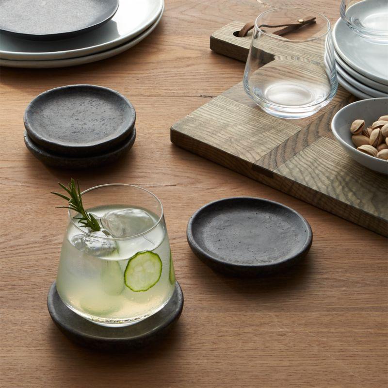 set of 4 cole coasters reviews crate and barrel. Black Bedroom Furniture Sets. Home Design Ideas
