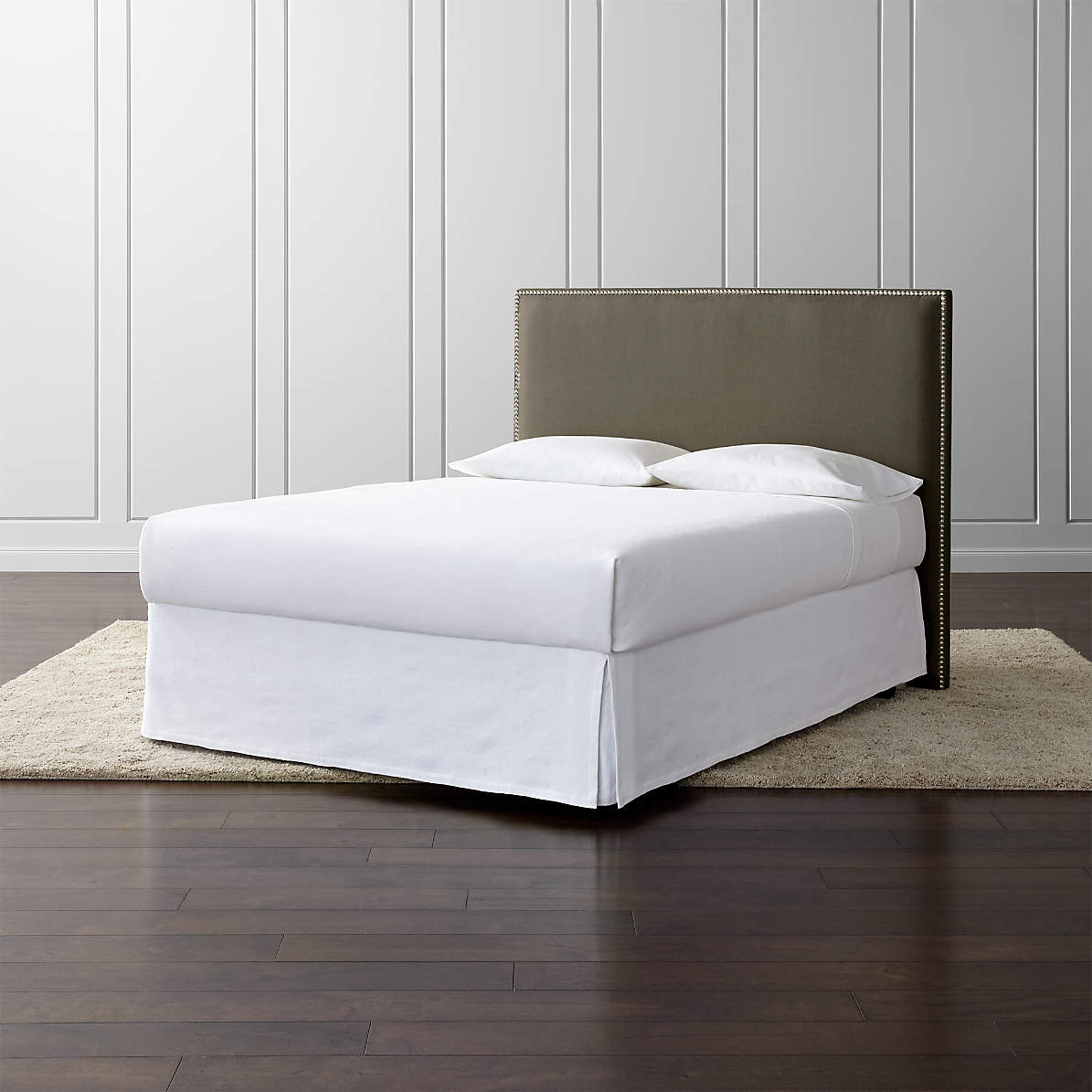 Cole Upholstered Square Headboard Crate And Barrel