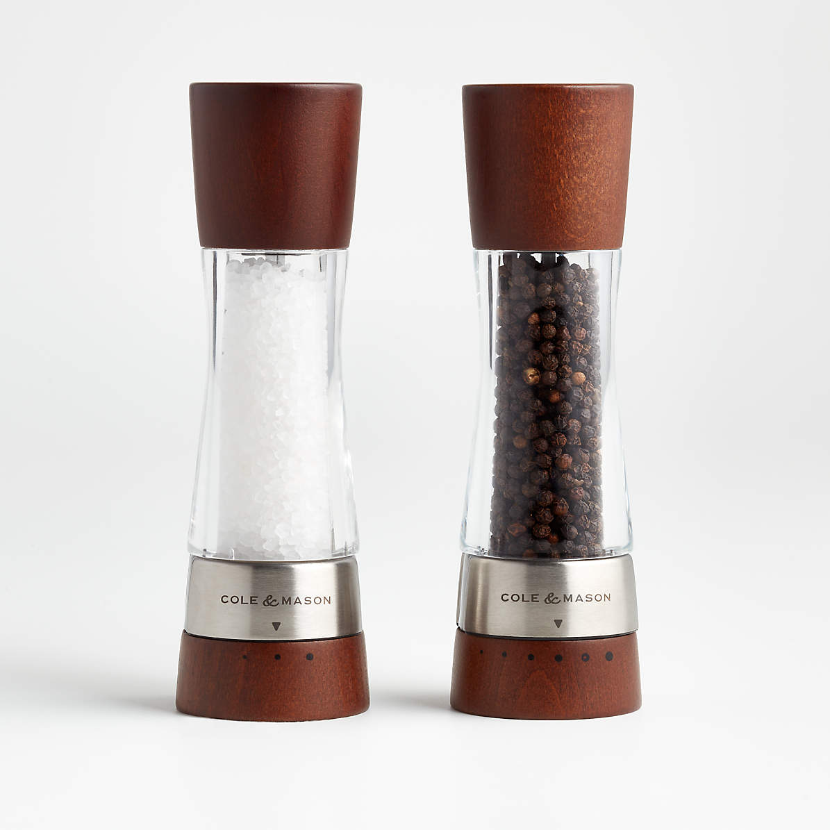 Cole And Mason Derwent Wood Salt And Pepper Mills Crate And Barrel