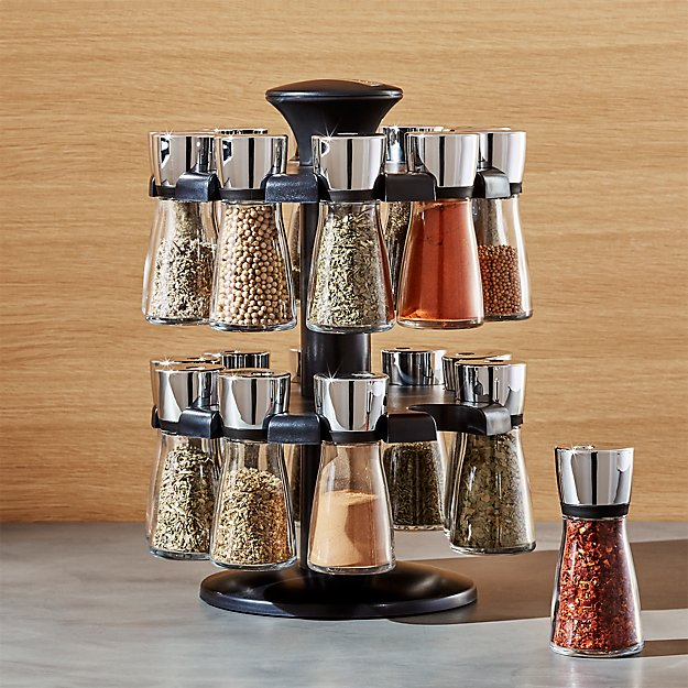 cole and mason 20 jar herb and spice rack crate and barrel. Black Bedroom Furniture Sets. Home Design Ideas