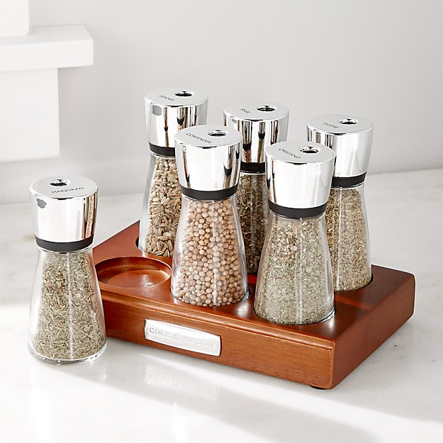 cole and mason spice rack crate and barrel. Black Bedroom Furniture Sets. Home Design Ideas