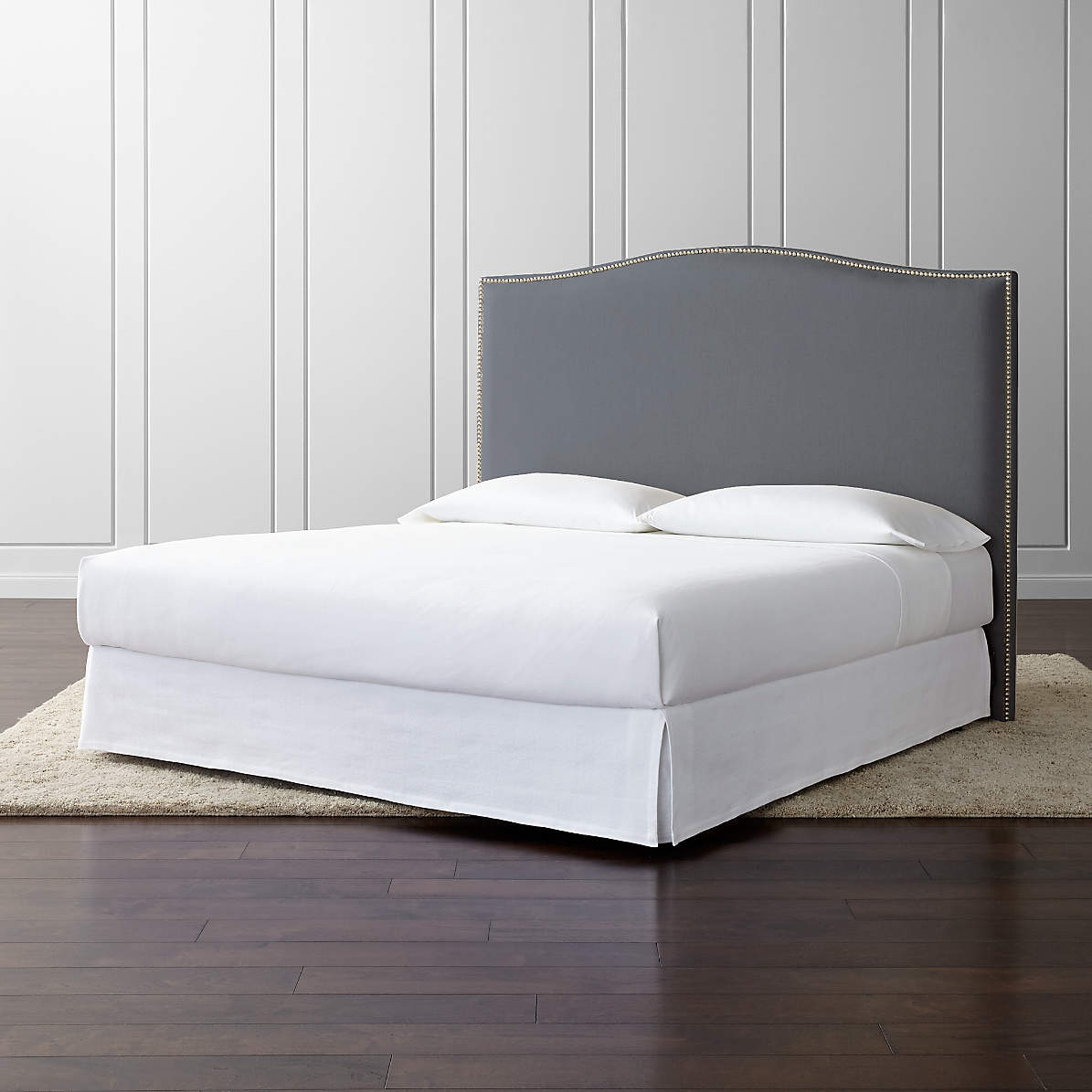 Picture of: Colette King Upholstered Headboard 60 Reviews Crate And Barrel