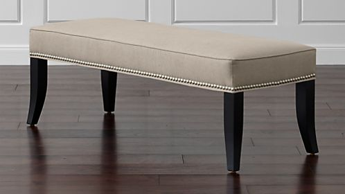 Leather Amp Upholstered Benches For Your Home Crate And Barrel