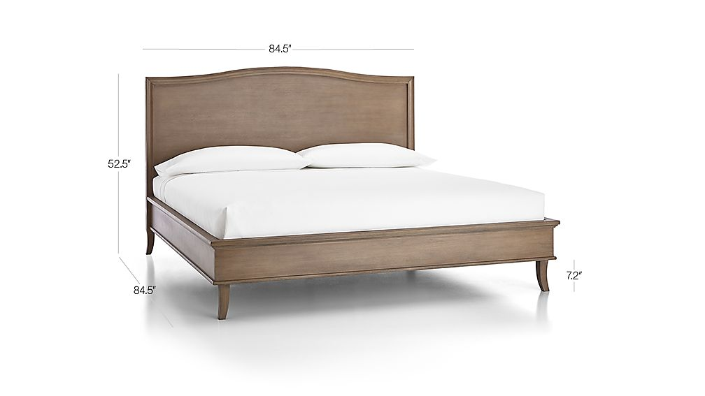 Colette Driftwood King Bed + Reviews | Crate and Barrel