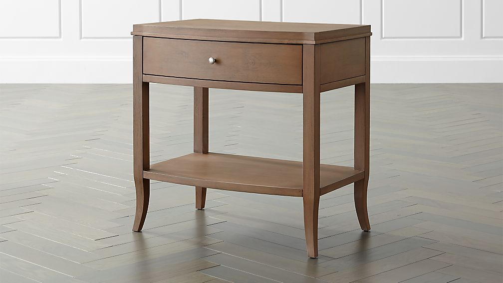 Night Stand Table Designs : Colette driftwood nightstand reviews crate and barrel
