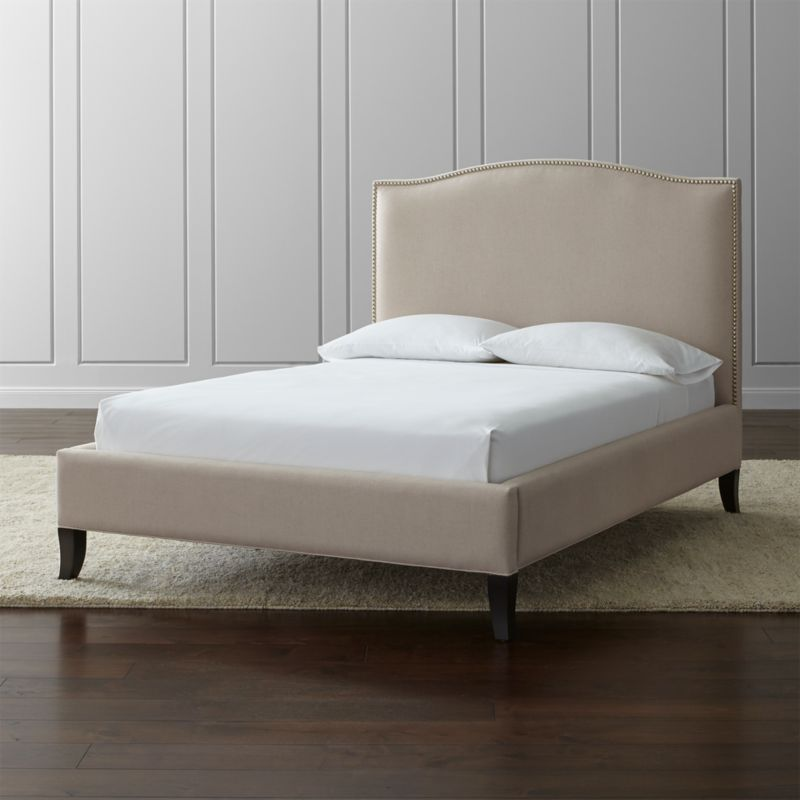 Colette Upholstered Full Bed | Crate and Barrel