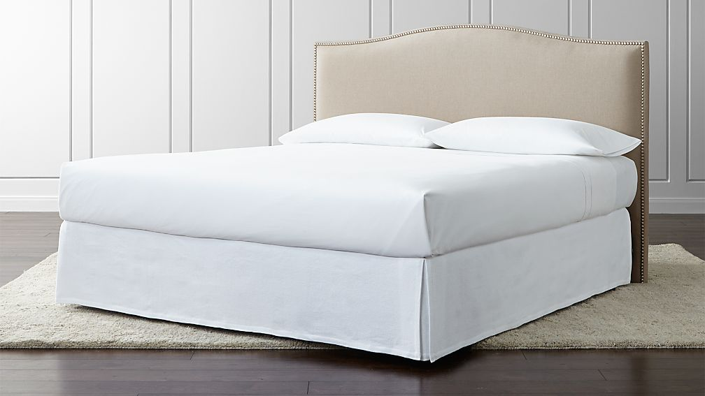 Colette Cream Upholstered Headboard Reviews Crate And