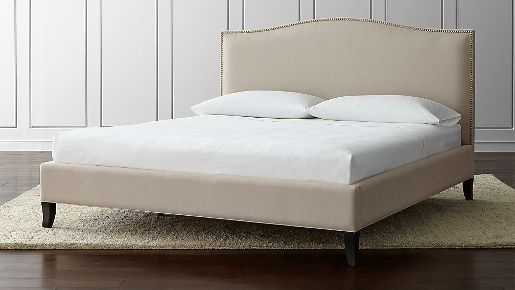 Colette upholstered king bed origin natural crate and Types of king beds