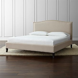 platform beds colette upholstered king bed
