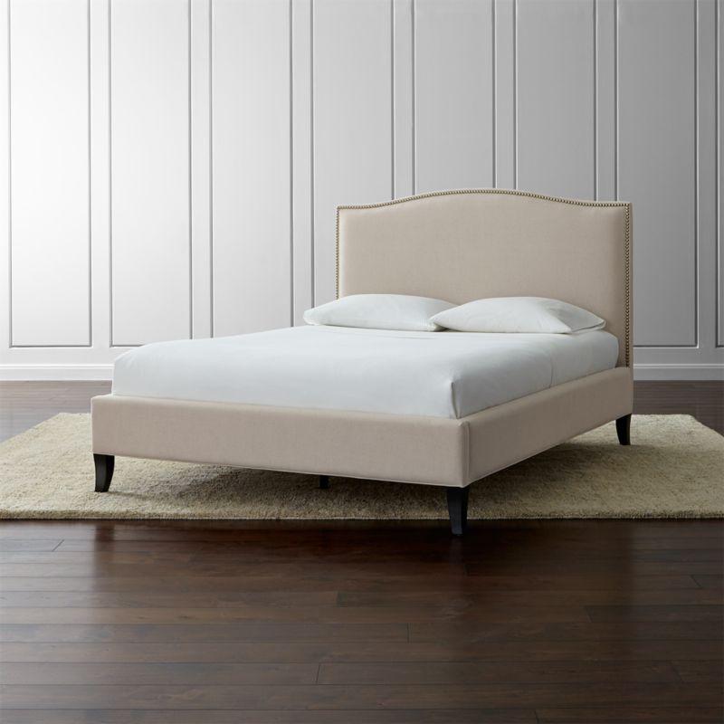 Colette Natural Upholstered Bed Crate and Barrel