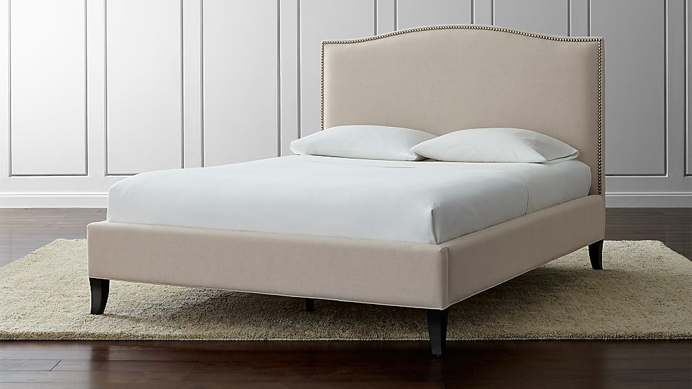 "Colette Queen Upholstered Bed 52.5"" - Image 1 of 12"